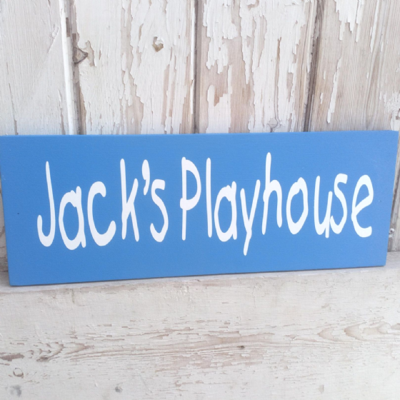 Personalised Outdoor Children's Playhouse Plaque